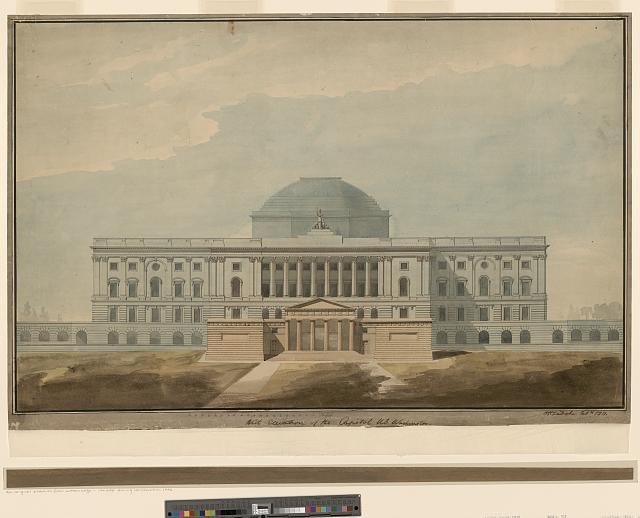 [United States Capitol, Washington, D.C. Elevation of west front with propylaea]