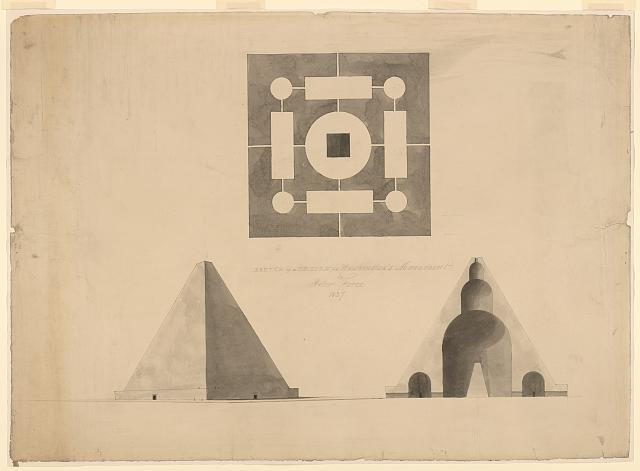 Architectural drawing for the Washington Monument, Washington, D.C.