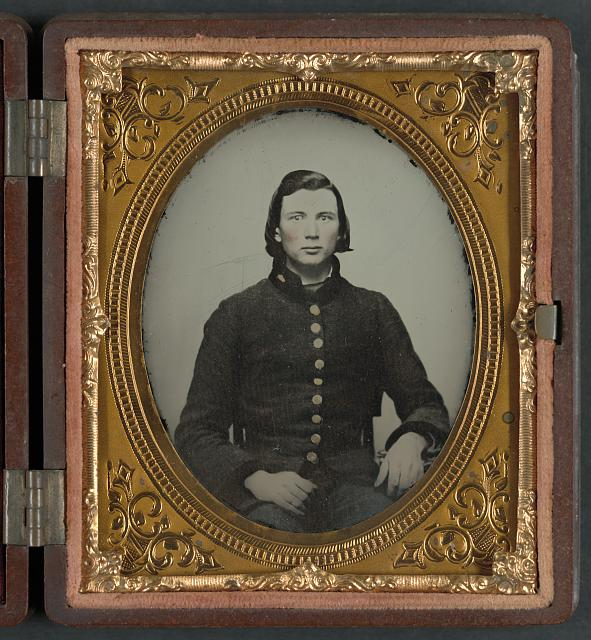 [Unidentified young soldier in Confederate uniform]