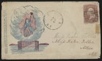 [Civil War envelope showing Columbia in a ring of clouds above Fort Sumter]