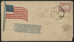 "[Civil War envelope showing American flag with second stanza from Francis Scott Key's poem, ""Defence of Fort McHenry""]"