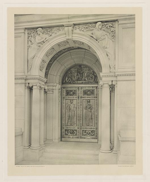 "[U.S. Library of Congress, Washington, D.C. ""Imagination"" and ""Memory"" bronze doors by Olin L. Warner]"