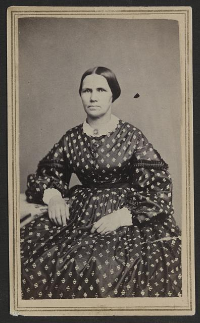 [Unidentified woman, possibly a nurse, during Civil War]