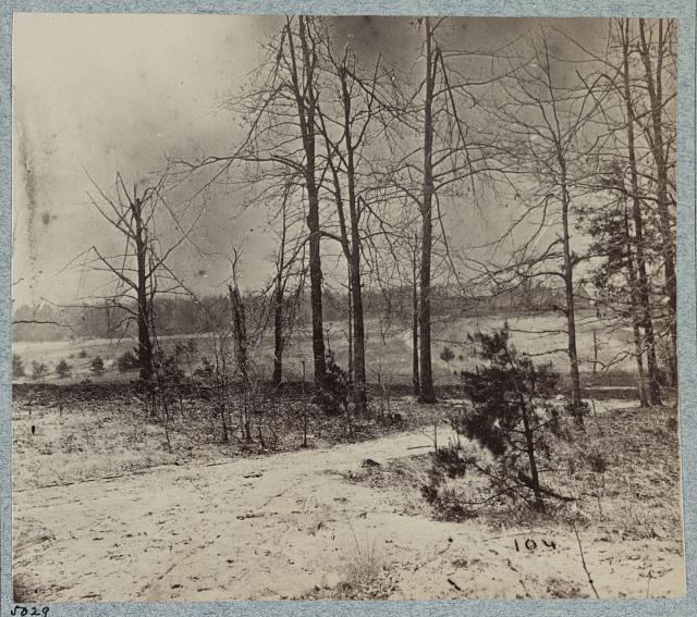 Views on the battlefield of morning of May 12th, 1864. Scene of capture of Johnson's Division, C.S.A.