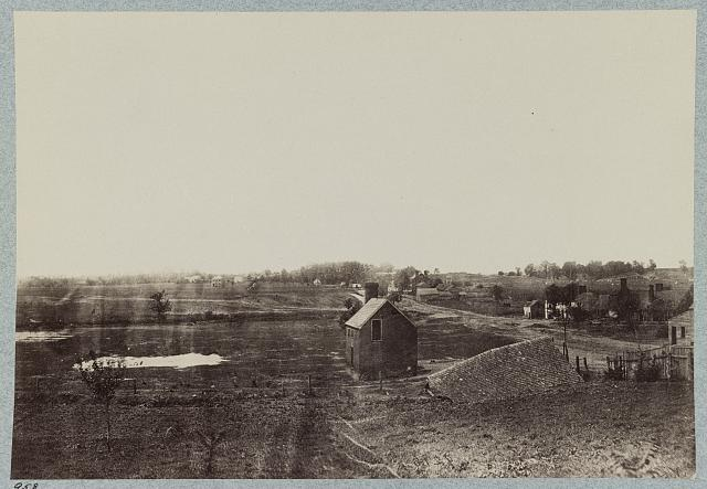 View of Marye's Heights and part of battlefield of Fredericksburg, Va. on December 13, 1862