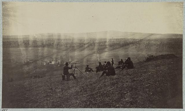 Signal corps on Rapidan River