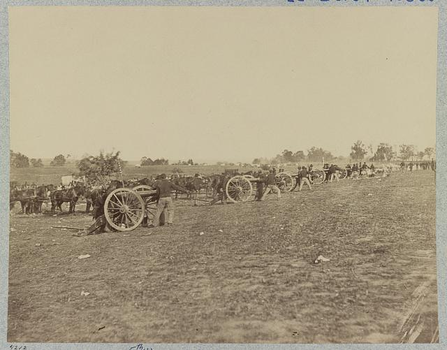 Battery D, 2d (i.e. 5th?) U.S. Artillery, going into action on south side of Rappahannock River below Fredericksburg, Va., June 4, 1863