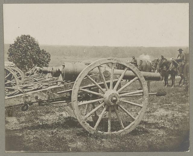 Battery - 1st N.Y. Artillery Battalion near Fair Oaks, June 1862