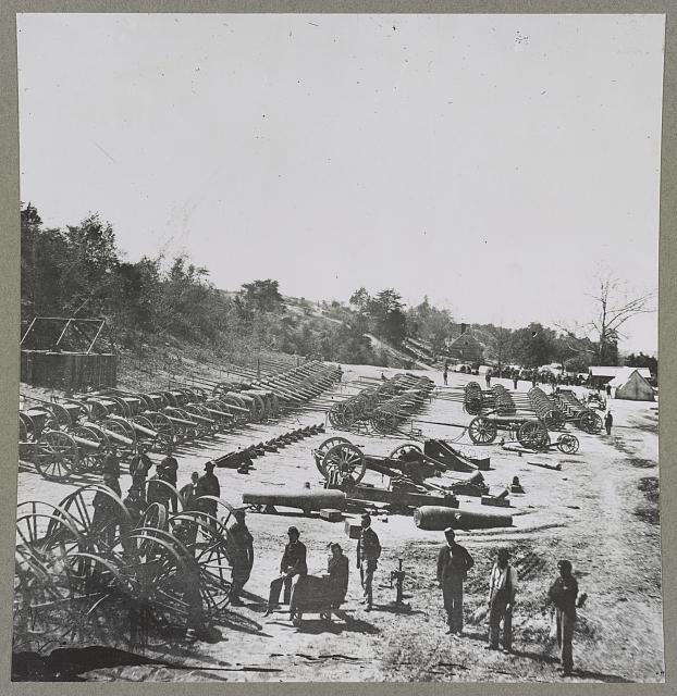 Park of artillery, Broadway Landing, Appomattox River, Va., April 1865