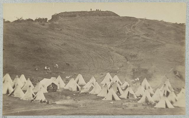 Belle Plain Landing, Va., Confederate entrenchments on hill