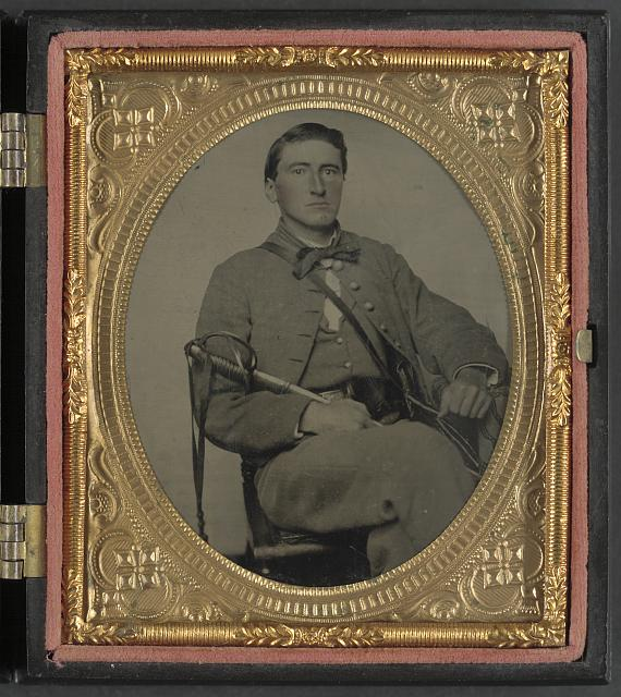 [Captain Alexander Dixon Payne of Co. H, 4th Virginia Cavalry Regiment, with sword]