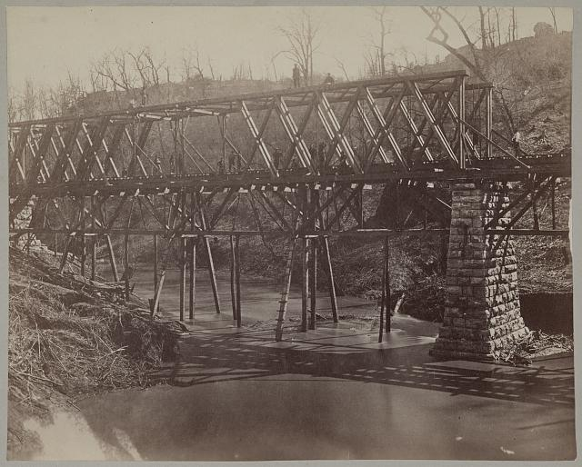 Military railroad bridge across Chattanooga Creek, L8536