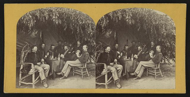 [Soldiers from the 134th Illinois Volunteer Infantry playing cards at Columbus, Kentucky]