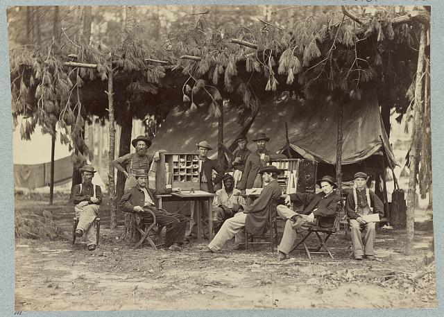 Camp of Chief Ambulance Officer, 9th Army Corps. in front of Petersburg, Va., August, 1864