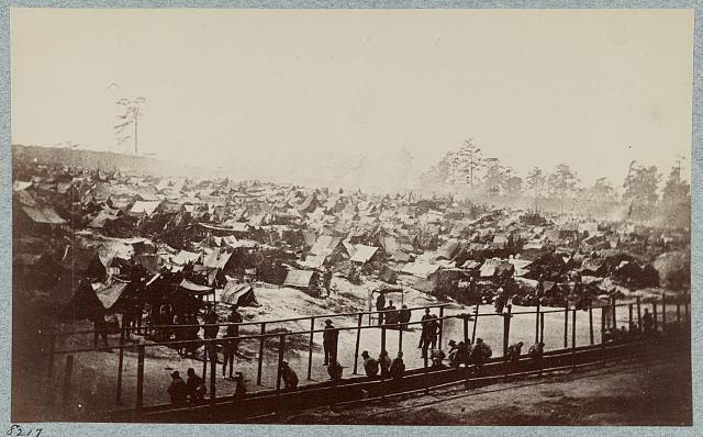 Andersonville Prison, Ga., August 17, 1864. South-east view of stockade