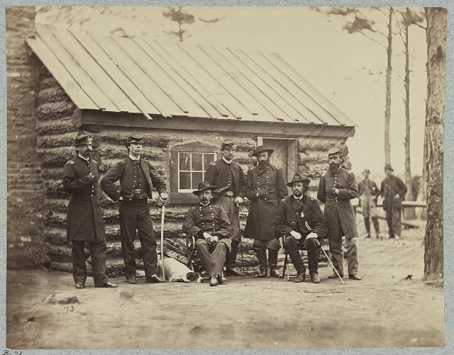 Bvt. Maj. Gen. Adelbert Ames and staff, Army of the James, Nov. 1864