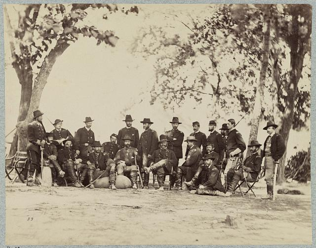 Major General A. E. Burnside and staff