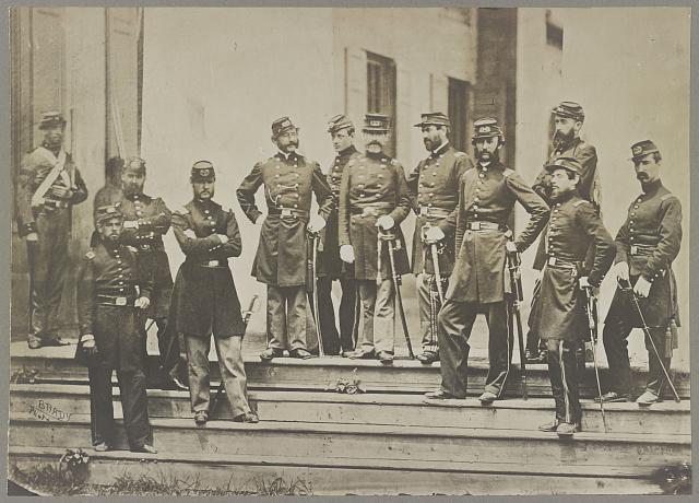 Heintzelman, Gen. S. P. and staff, U.S.A., at Arlington, Va.