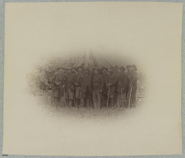 Bvt. Major General T. H. Neill and staff