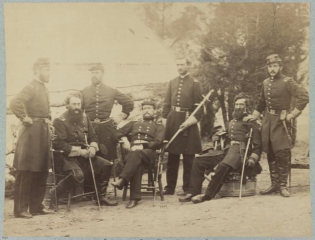Major General J. J. Peck and staff