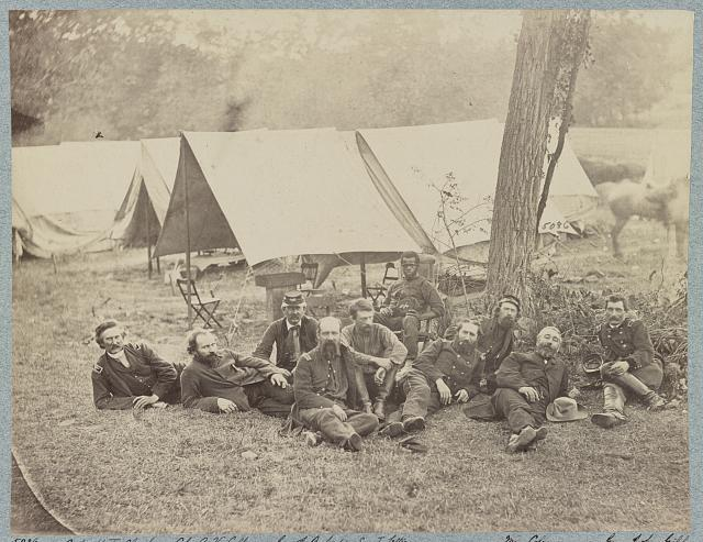 Group at Headquarters, Army of Potomac, October 1862