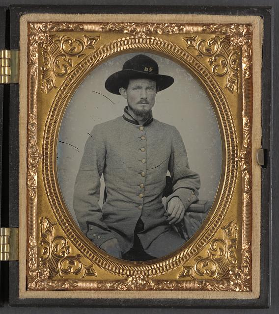 [Private Peter H. Bird of Co. D, 2nd Virginia Cavalry Regiment, in uniform]