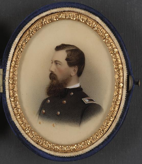 [Brevet Brigadier General Frederick Locke of Field & Staff, 12th New York Infantry Regiment, and U.S. Volunteers Adjutant General Department in uniform]