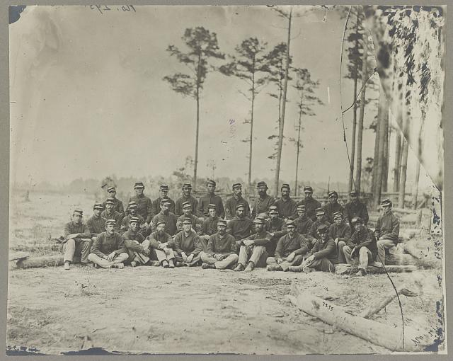 Co. C 1st Mass. Cavalry in front of Petersburg, Va., Aug., 1864