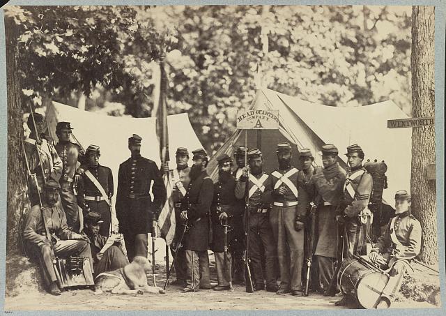 Group of Co. A, 8th New York State Militia, Arilington, Va., June, 1861