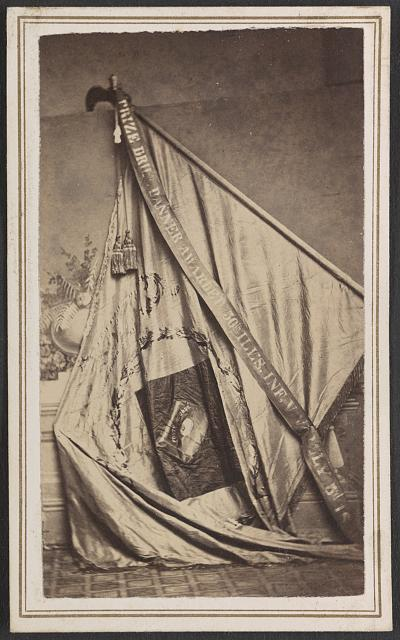 [Excelsior Banner awarded to the 50th Illinois Infantry Regiment as first prize in a drill competition]