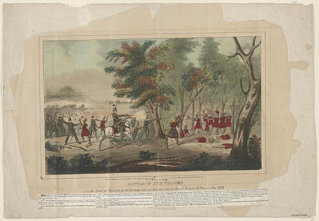 Battle of the Thames and the death of Tecumseh, by the Kentucky mounted volunteers led by Colonel Richard M. Johnson, 5th Oct. 1813