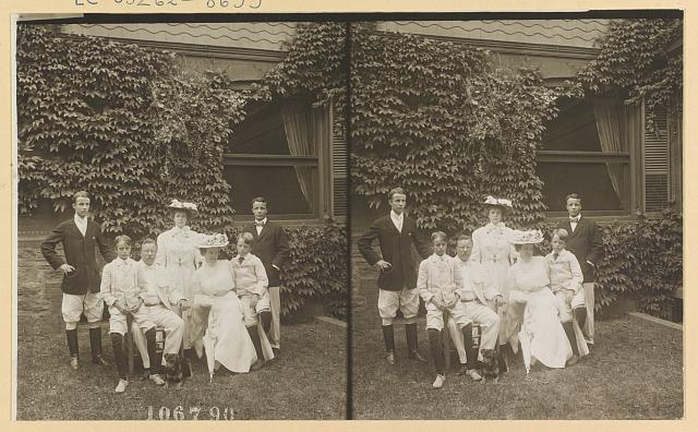 [Mrs. and Mrs. Theodore Roosevelt and family]