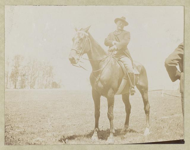 President Roosevelt on his horse Renown