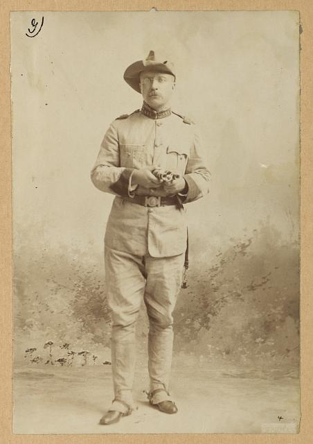 [Theodore Roosevelt, full-length portrait, facing front, in uniform]