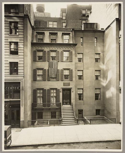 [President Theodore Roosevelt's birthplace, New York, New York]