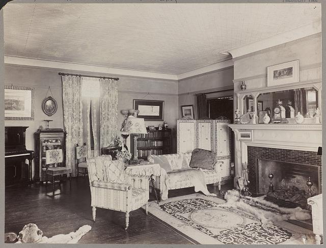 Parlor in home of Theodore Roosevelt, Washington, D.C.