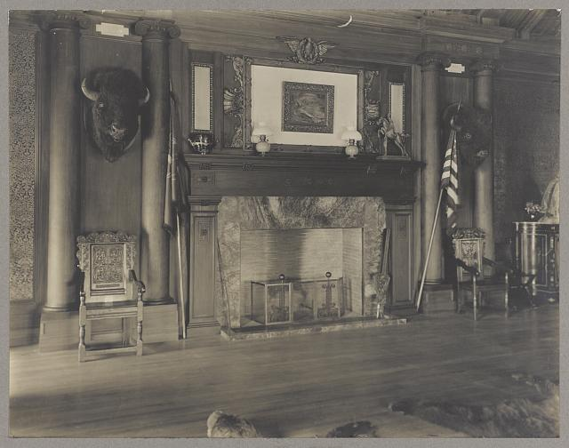 Sagamore Hill, President Roosevelt's country home Residence, the north room.
