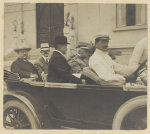 Roosevelt leaving Institute of Butantan with Sec. Altino Arantes