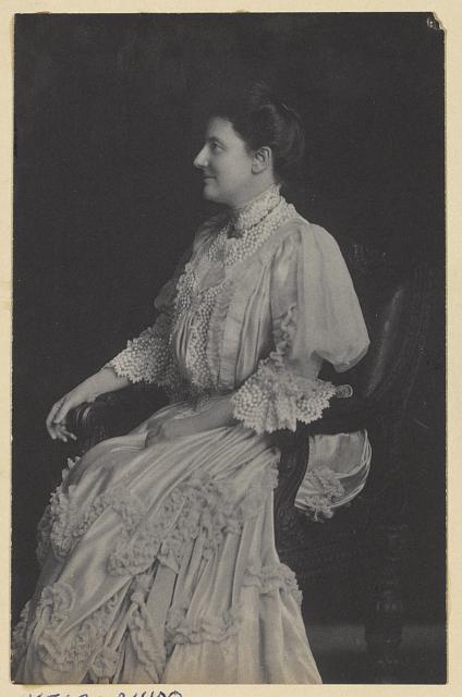 [Mrs. Edith Kermit Carow Roosevelt, three-quarter-length portrait, seated facing left]