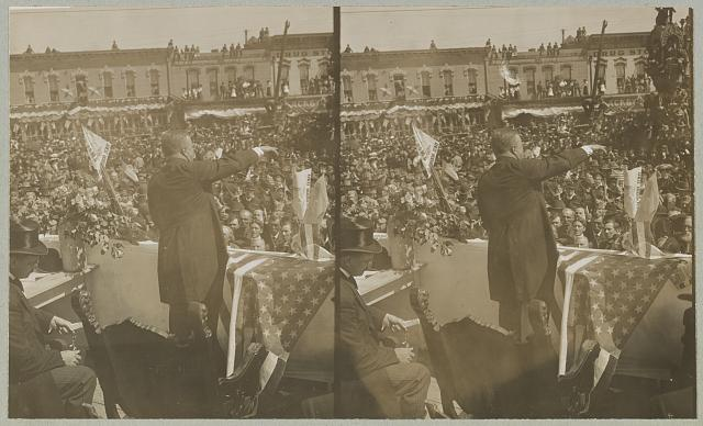 Pres. Roosevelt meeting his fellow Americans Speaking at Forth Worth, Texas.