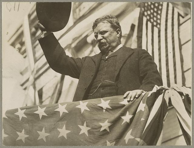 Colonel Roosevelt  on his tour through New Jersey before the convention