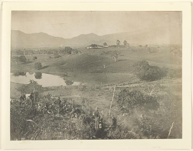 The hill from which the dismounted cavalry division charged San Juan hill before Santiago, July 1st, 1898