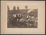 Professor Lowe inflating Balloon Intrepid to reconnoiter Battle of Fair Oaks