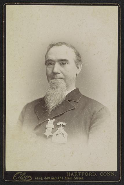 [Unidentified Civil War veteran with Grand Army of the Republic medals]
