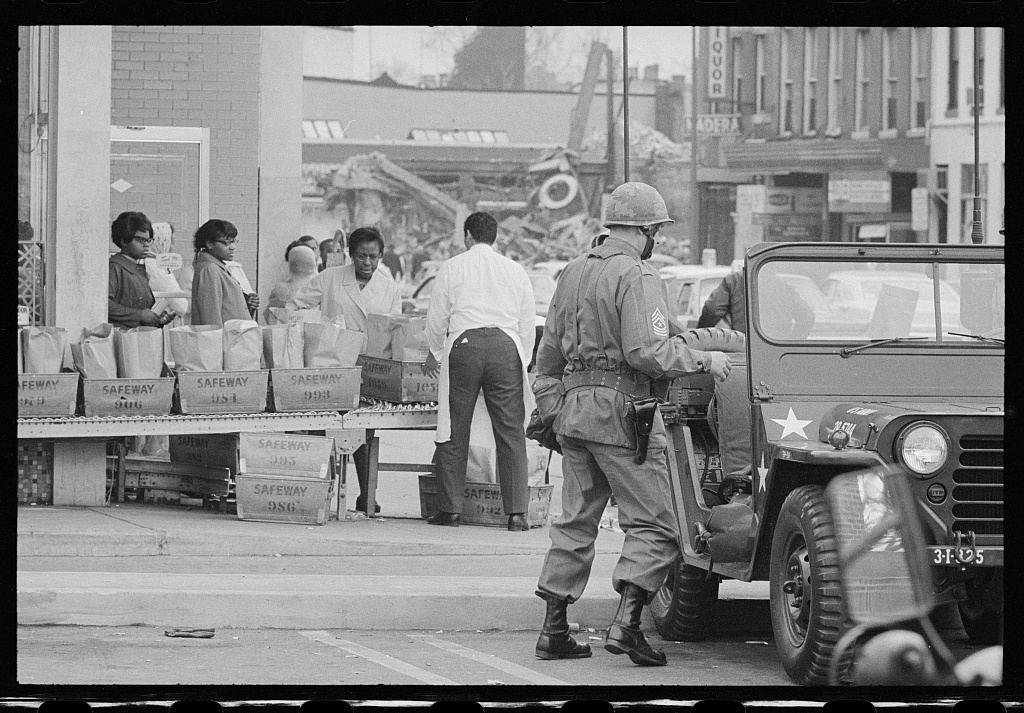 D.C. Riot scenes in area of 14th-7th Sts. N.W., [Washington, D.C.]