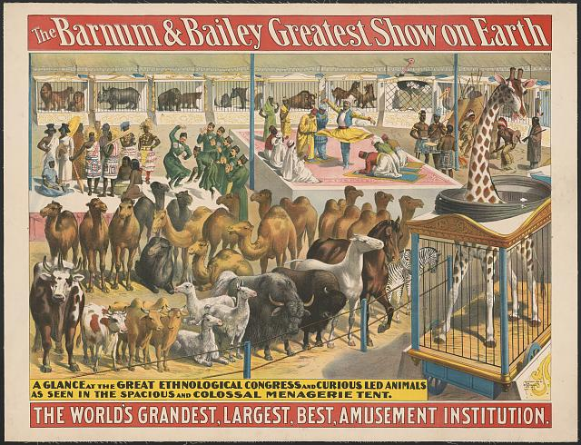 The Barnum and Bailey greatest show on earth--A glance at the great ethnological congress and curious led animals ...
