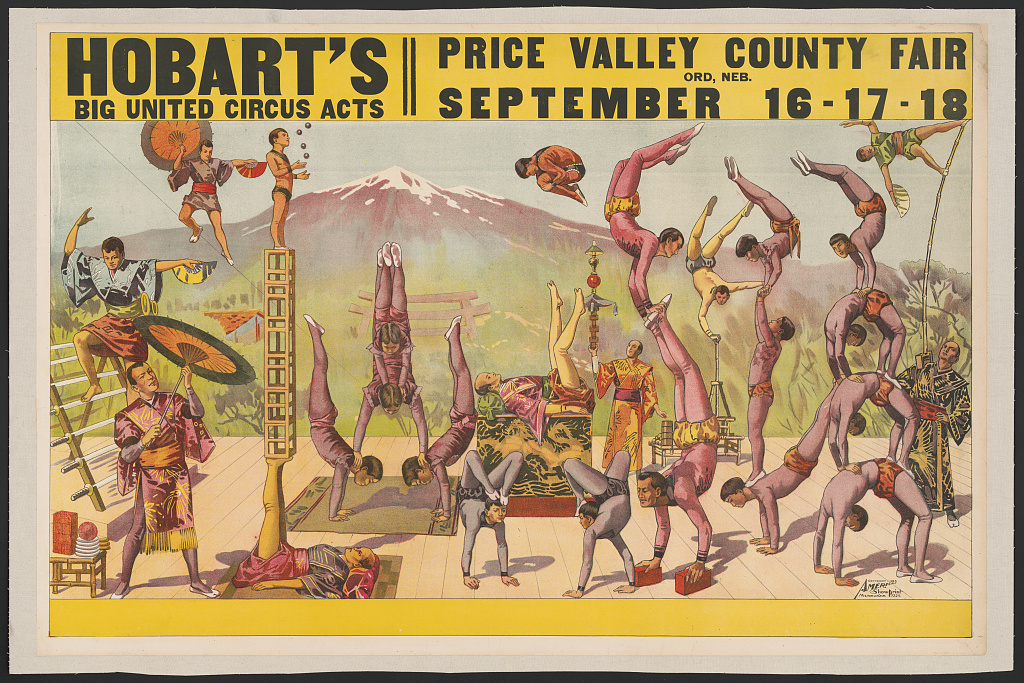 Hobart's big united circus acts. Price Valley County fair... Library of Congress. Prints and Photographs Division Washington.