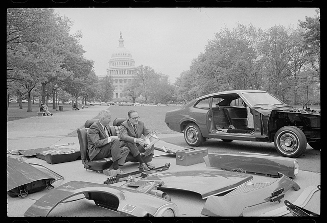 The New Ford Maverick, on Capitol grounds