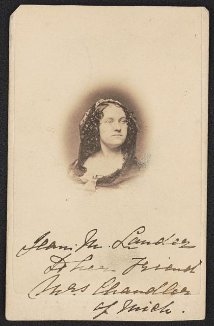 Jean Margaret Davenport Lander, actress and Civil War nurse.