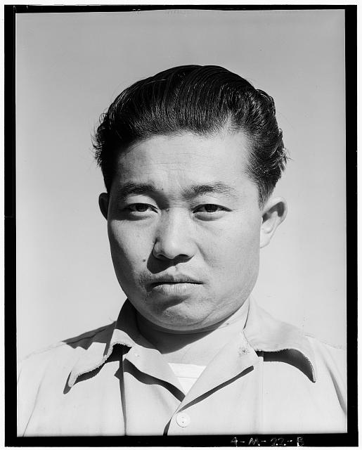 Benji Iguchi, tractor driver (portrait) Manzanar Relocation Center, California